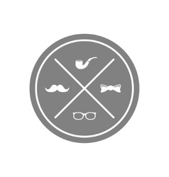 hipster symbol vector image