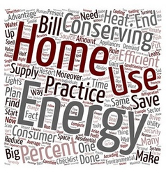 Home energy ll 1 text background wordcloud concept vector