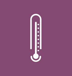 Icon weather thermometer vector