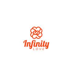 Infinity love logo design vector