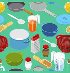 ingredients and tableware utensil seamless vector image
