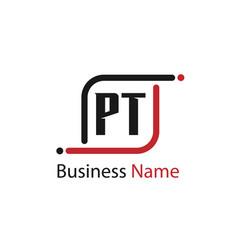 Initial letter pt logo template design vector