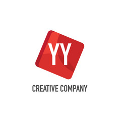 initial letter yy logo template design vector image