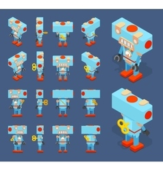 Isometric blue toy robot vector image