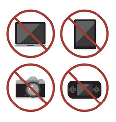 Items not allowed to carry in luggage vector