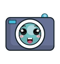 Kawaii cartoon photographic camera vector