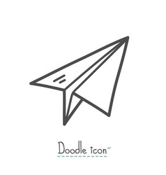launch doodle icon vector image