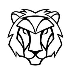 Leo zodiac sign black horoscope symbol vector