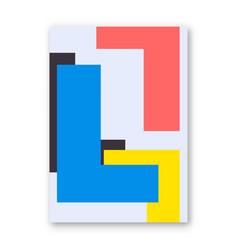 Letter l poster vector