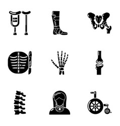 Limb icons set simple style vector