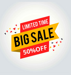 limited time sale tag big sale tag vector image