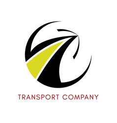 Logo of the logistics company vector