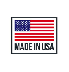 made in usa premium quality american flag icon vector image