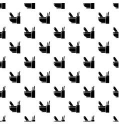 mortar pestle pattern seamless vector image