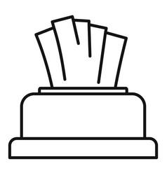 Napkin icon outline style vector