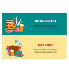 oktoberfest - bavarian festival flyers with vector image