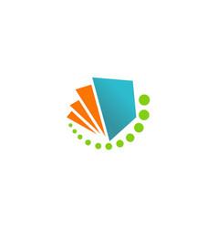 Paper book abstract logo vector