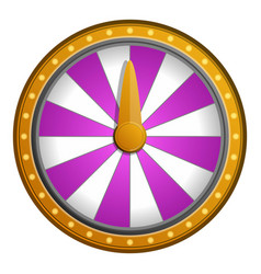 pink white wheel fortune icon cartoon style vector image