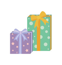 presents with wrapping poster vector image