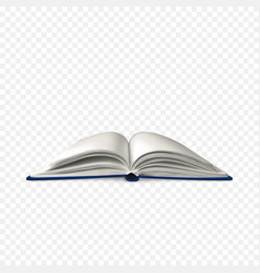 realistic open book book template with white vector image
