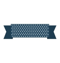 ribbon usa stars blue vector image