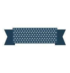 ribbon usa stars blue vector image