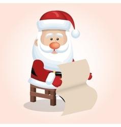 Santa claus christmas isolated vector