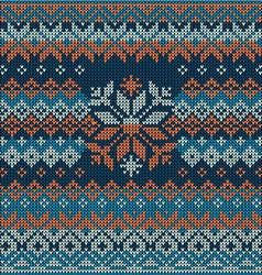 Scandinavian style seamless knitted pattern vector