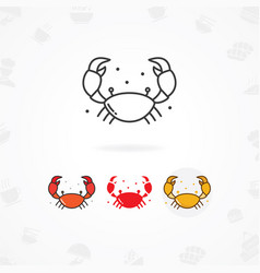 seafood icon vector image