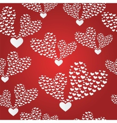 seamless background to the Valentine s day vector image