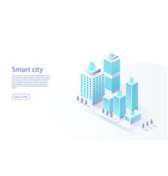 smart city with services internet things vector image