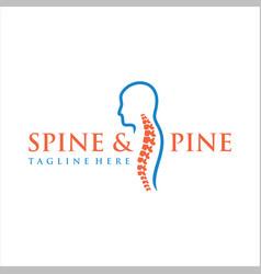 spine logo design medical chiropractic logo vector image