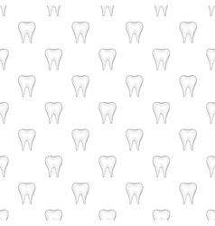 Tooth pattern cartoon style vector