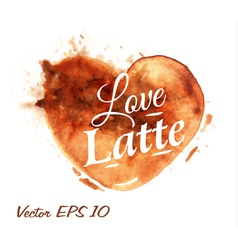 Traces Coffee Heart Latte vector