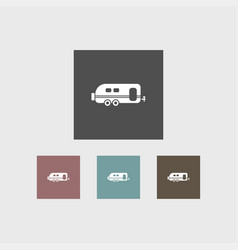 trailer icon simple vector image