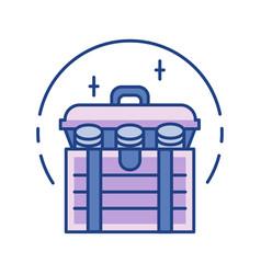 treasure line color icon vector image