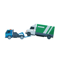 truck evacuating tow truck roadside assistance vector image