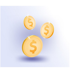 Us dollar coin business online vector