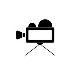video camera black icon vector image