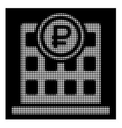 white halftone rouble bank office icon vector image