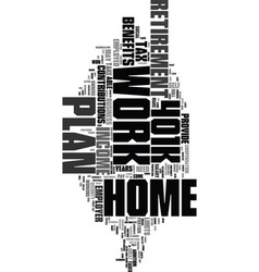 Work at home k text word cloud concept vector