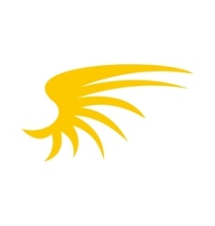 Yellow birds wing icon flat style vector image vector image