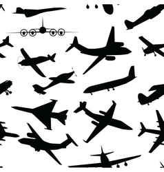 Aircraft airplane plane flying seamless travel vector