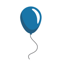 blue balloon decoration celebration party image vector image vector image