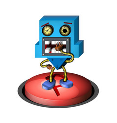 3d robot on a white background vector image vector image