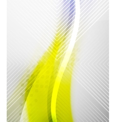 Abstract Background - Yellow shiny blurred wave vector image vector image