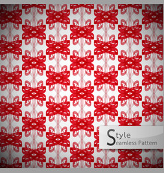 bow ribbon red mesh vintage geometric seamless vector image vector image