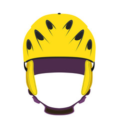 helmet for ski snowboarding extreme sports bicycle vector image vector image