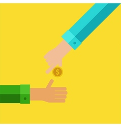 Pay and receive money vector image vector image