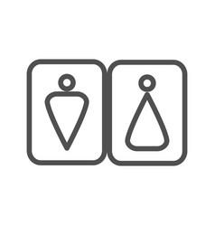 wc line icon vector image